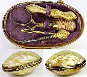 Подарочный набор для шитья. 1840-е