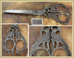 Ножницы с павлинами, Италия, 1870-ые