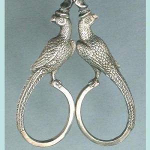 Английские серебряные ножницы. Середина XIX века.