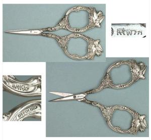 Конец XIX века, серебро, ножницы для вышивания