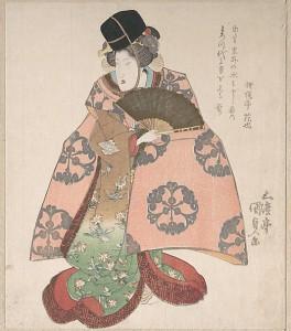 Актер кабуки в женской роли. Утагава Кунисада. XIX в.