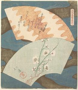 """Рисунки для вееров: """"цветы вишни"""" и """"волны"""". Тотойя Хоккей"""