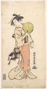 Девушка с веером. Масафуза. Эпоха Эдо. Ок. 1750–70 гг.