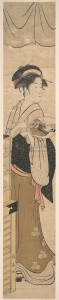 Девушка с веером. Кон. XVIII - нач. XIX вв.