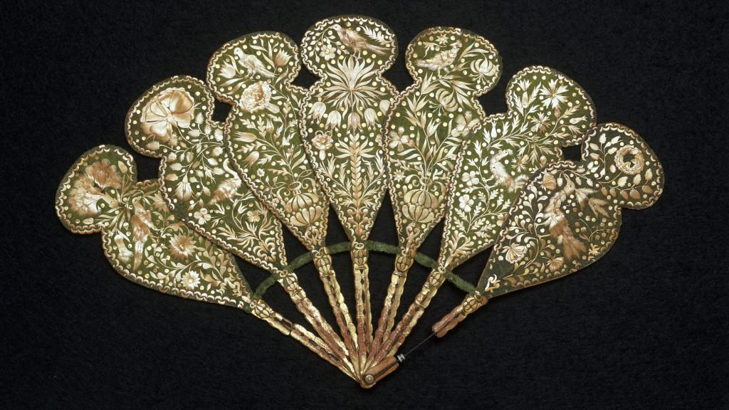 Веер-бризе из соломки и шелка. Италия, 1620-е гг.
